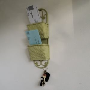 Vintage Wall Hung Mail Caddie/Key Hook